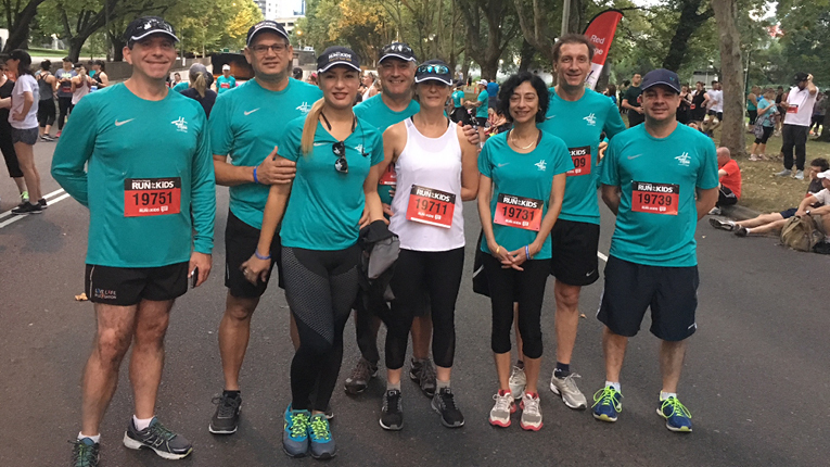 The Ventia team at the CityLink 'Run for the Kids'