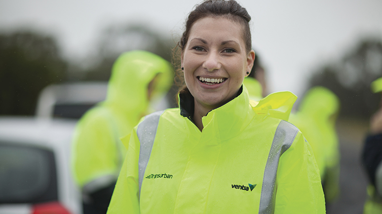 Ventia IR team member, Simone Marino featured in a Transurban campaign highlighting our incident response services.