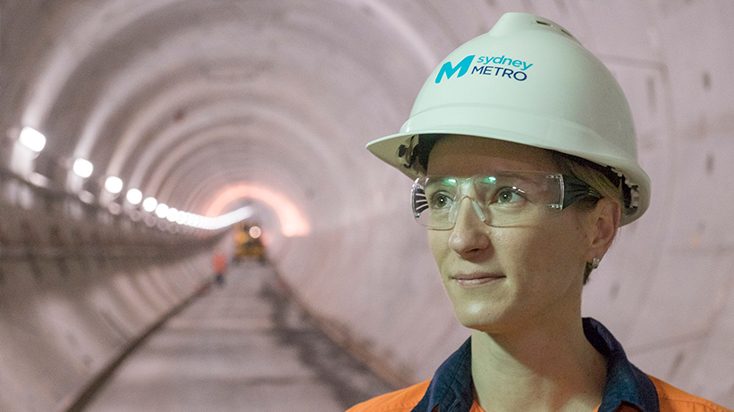 Ventia's Kate Cole at work on the Sydney Metro project