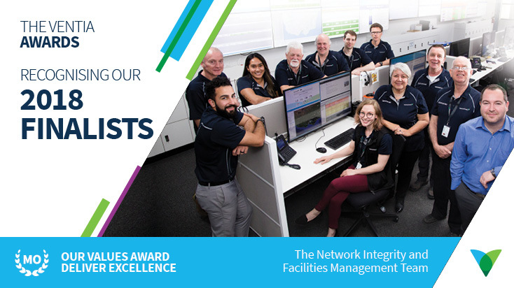 Pictured: Members of the Network Integrity and Facilities Management Team at the Network Operations Centre in Heatherton, Victoria.