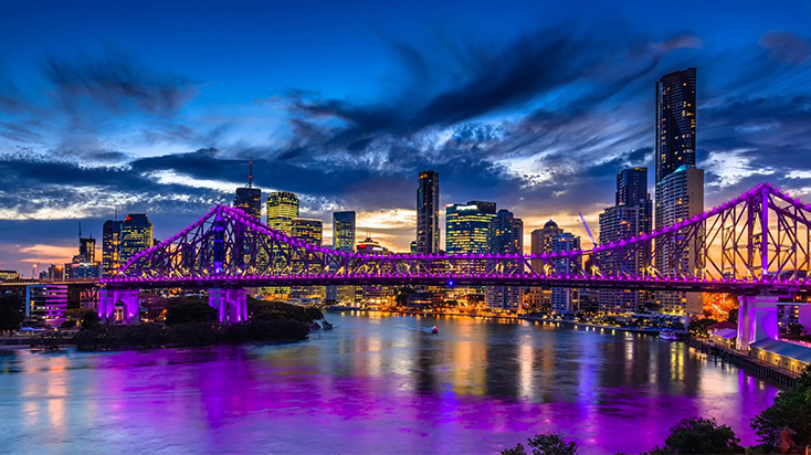 Brisbane city's skyline.