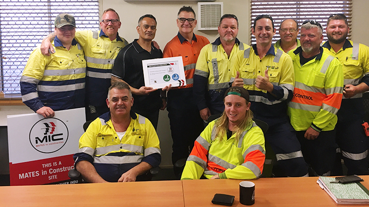 Some of the team supporting the Mates in Construction program