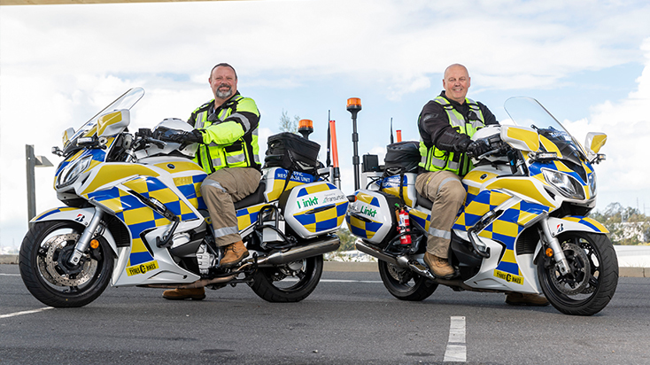 Paul Hillman and Darren Nolan two of our incident response motorcyclists