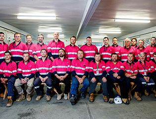 Barangaroo team tickled pink with fundraiser