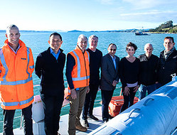 Connecting Waiheke Island with undersea cable