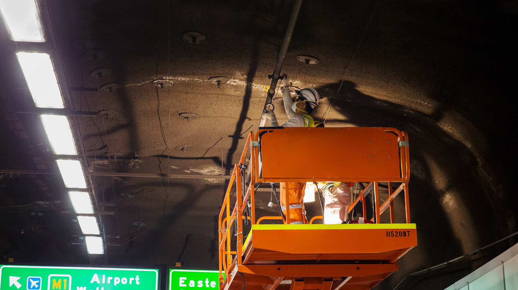 Maintenance in the Cross City Tunnel