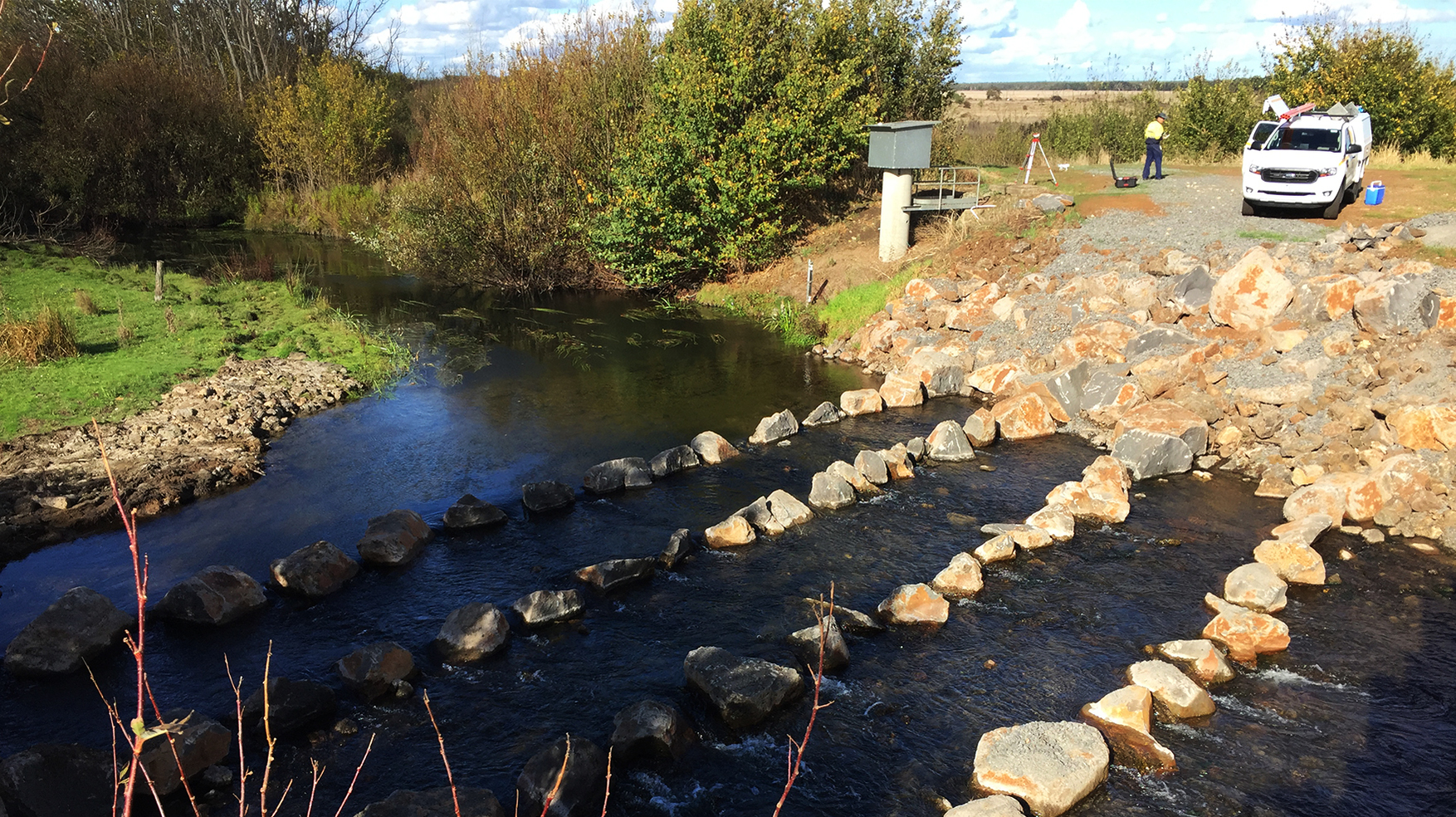 Ventia's Environmental Services team has recently overseen the installation of two fishways.